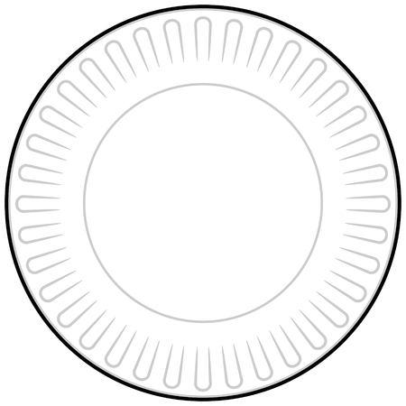 紙皿  イラスト・ベクター素材