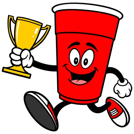 Party Cup Running with a Trophy