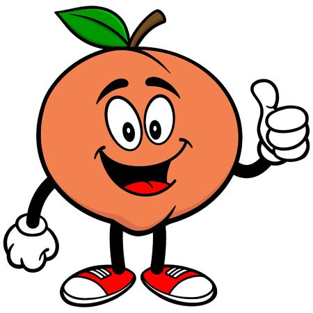 Peach with Thumbs Up