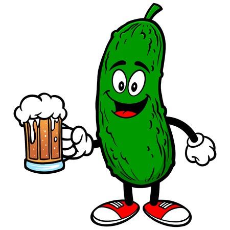 Pickle mit Bier