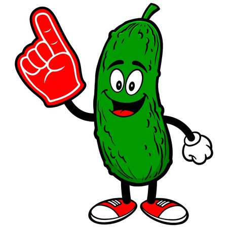 Pickle with Foam Finger