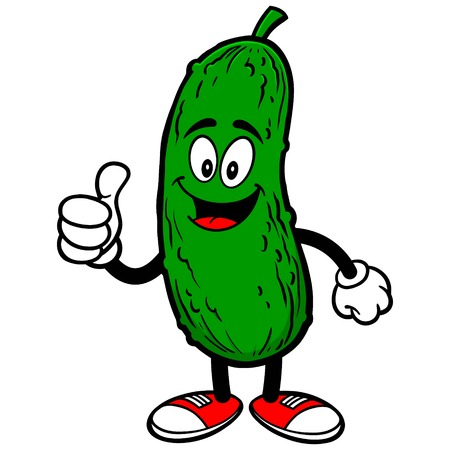 Pickle with Thumbs Up