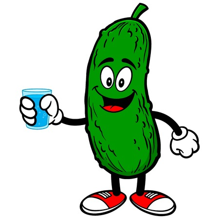 pickle: Pickle with Water Illustration