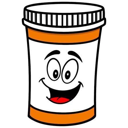 prescription bottles: Pill Bottle Mascot