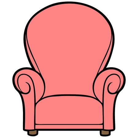 reclining: Pink Chair