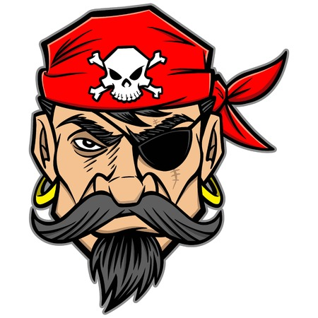 looting: Pirate Illustration
