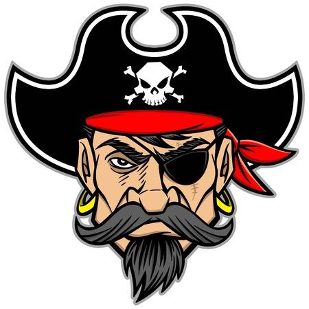 Piraten-Maskottchen Standard-Bild - 57772520