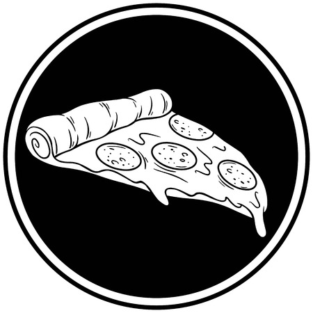Pizza Slice Insignia Illustration