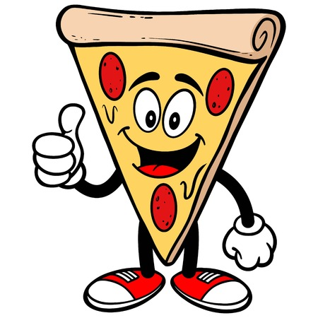 Pizza with Thumbs Up Imagens - 57772635
