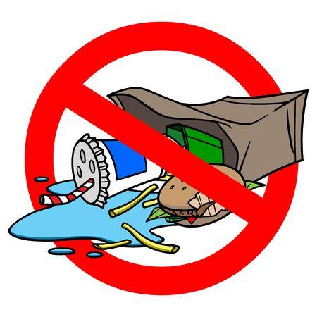 Please Do not Litter Standard-Bild - 57772646
