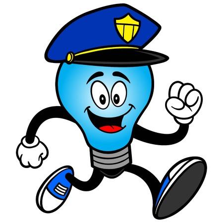 Police Bulb Running Reklamní fotografie - 57772649
