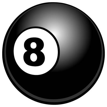 bola de billar: Bola de billar Vectores