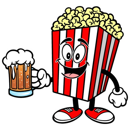 indulgence: Popcorn with Beer
