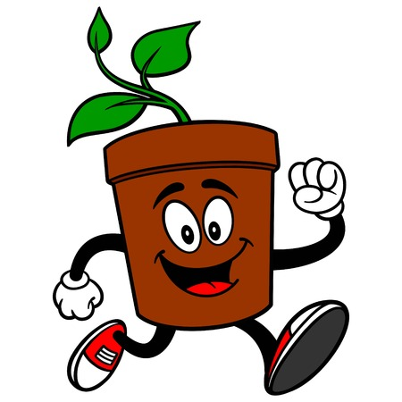 Potted Plant Running