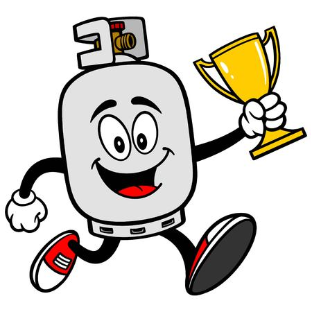 propane tank: Propane Tank running with a Trophy