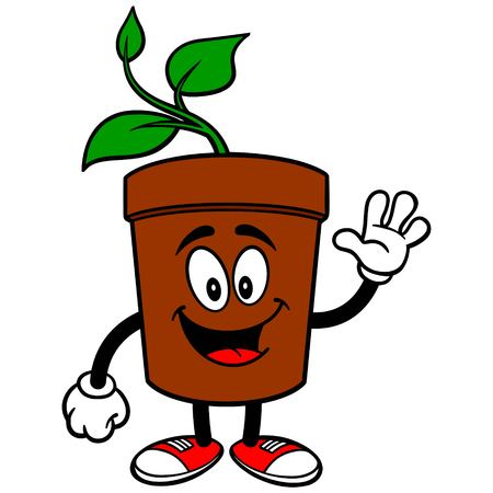 potted plant: Potted Plant Waving