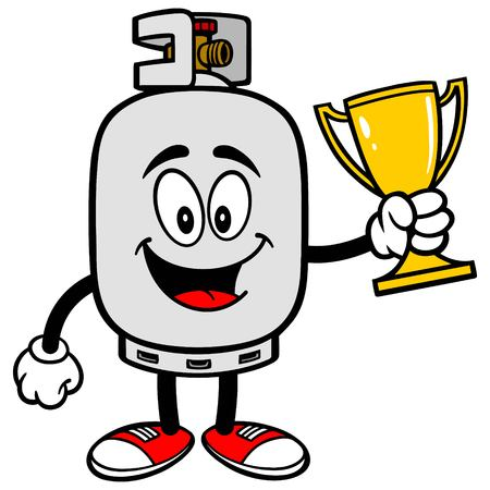 propane: Propane Tank with a Trophy Illustration