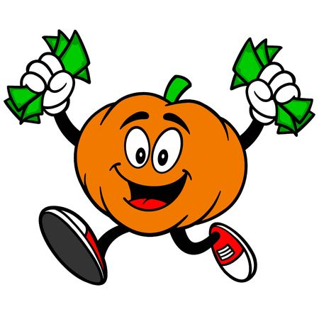 removing: Pumpkin Mascot with Money