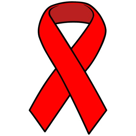 social awareness symbol: Red Awareness Ribbon