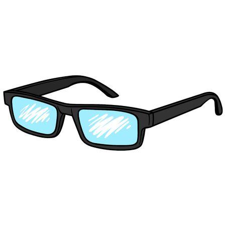 reading glasses: Reading Glasses Illustration