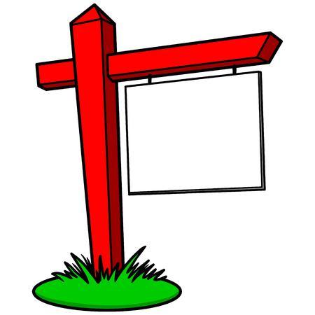 Realtor Sign Иллюстрация