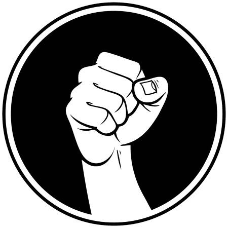 Rebel Fist Insignia Illustration