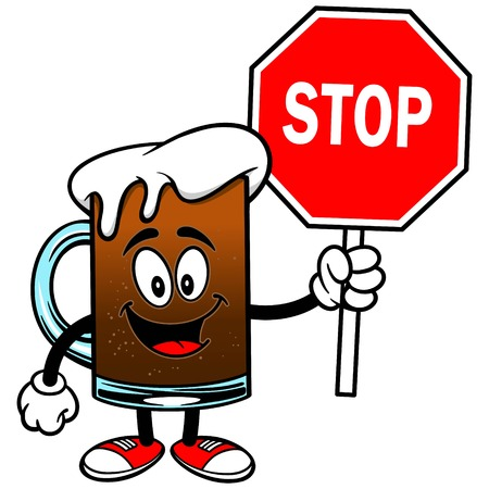 root beer: Root Beer with a Stop Sign