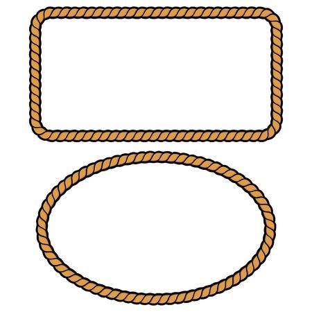 ロープ枠イラスト  イラスト・ベクター素材