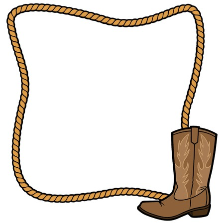 Frame van de kabel en de Laars van de Cowboy