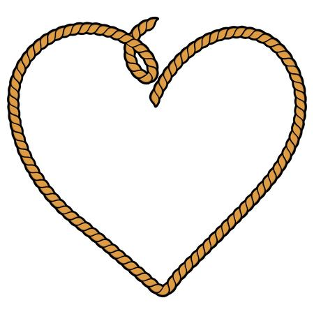 Rope Heart Vectores