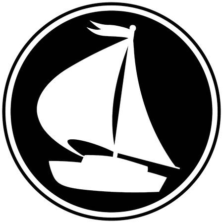 Sailboat Symbol Illustration
