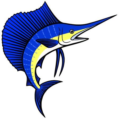 sailfish: Pez vela  Vectores