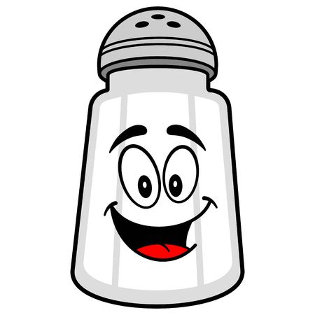 spicy mascot: Salt Shaker Mascot Illustration