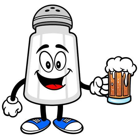 Salt Shaker with a Beer