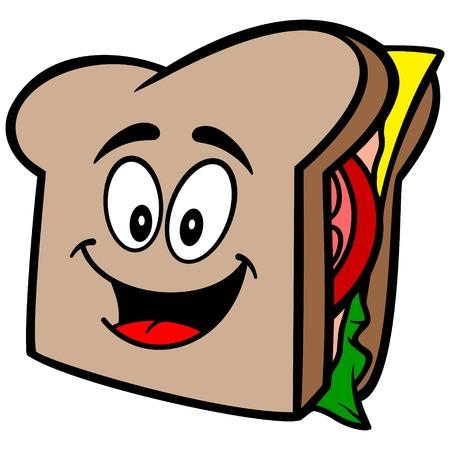 Sandwich Mascot Stock Illustratie