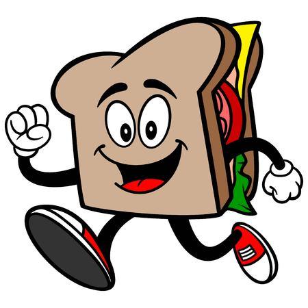 Sandwich Running Banco de Imagens - 57875120