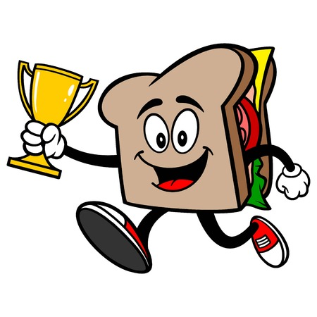 Sandwich Running with Trophy