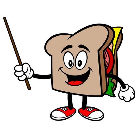 Sandwich mit einem Zeiger Standard-Bild - 57875131