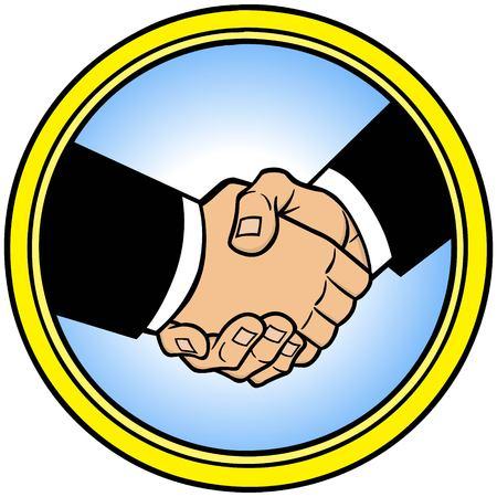 Sealed Deal Icon Illustration