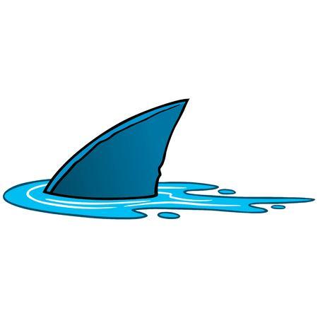 상어 지느러미 일러스트