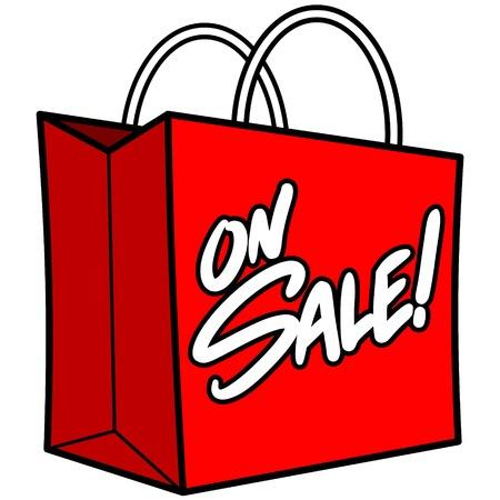 Shopping Bag Sale Ilustração