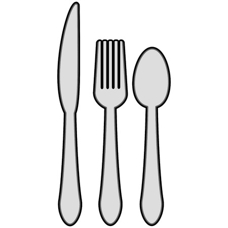 tablespoon: Silverware Illustration