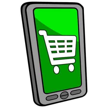 checkout: Smartphone Checkout Illustration