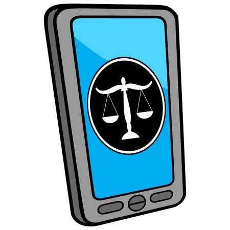 locator: Smartphone Lawyer Locator Illustration