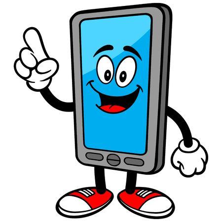 Hablar teléfono inteligente Ilustración de vector