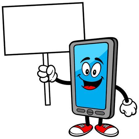 Smartphone con la muestra