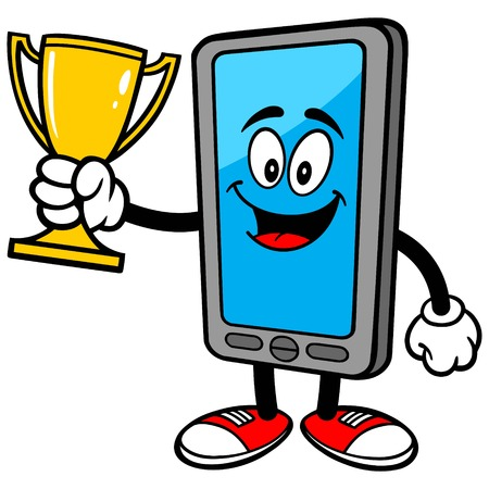 Smartphone with Trophy