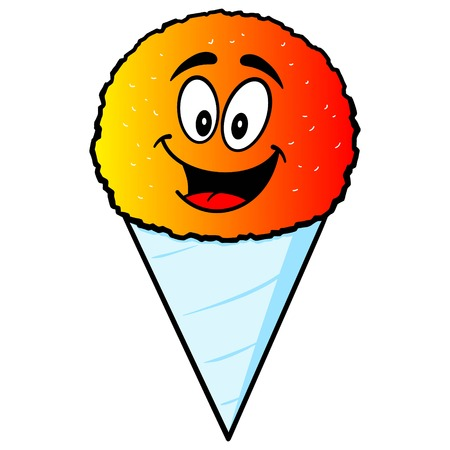 snow cone: Snow Cone Mascot Illustration