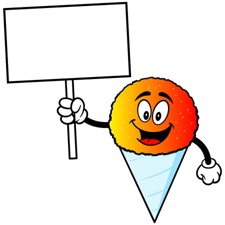 snow cone: Snow Cone with Sign
