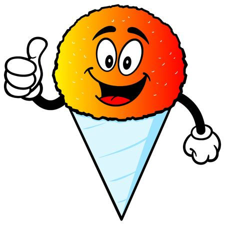 snow cone: Snow Cone with Thumbs Up